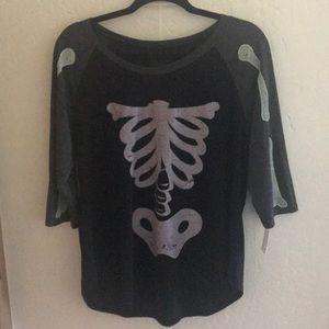 Plus Size Skeleton Shirt
